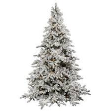 white flocked trees you ll wayfair
