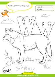 kids under 7 letter w worksheets and coloring pages