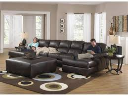 Square Sectional Sofa Creative Bobs Living Room Furniture Using Dark Brown Leather