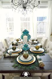 peacock inspired dining room and tablescape kelley nan