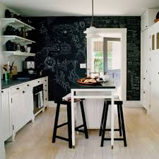 perfect black chalkboard ideas with chic floating shelves for