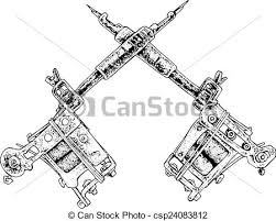 tattoo guns black and white illustration vector clip art search