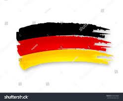 illustration isolated hand drawn german flag stock illustration