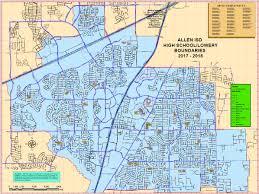 map of allen transportation maps of school boundaries