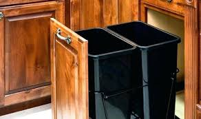 trash can cabinet lowes trash can cabinet pull out trash can in a kitchen cabinet pull out