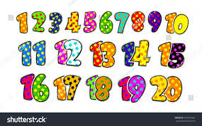 kids fun numbers 1 20 stock vector 163379765 shutterstock