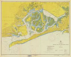 Map Of Jamaica Blank by Jamaica Bay Map U0026 Rockaway Inlet New York 1954 Historical
