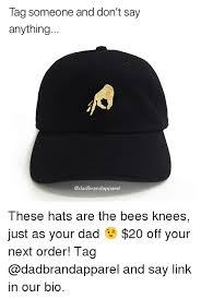 Meme Hats - tag someone and don t say anything these hats are the bees knees