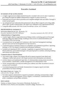 Sample Resume Of Executive Assistant by Executive Assistant Resume Sample By Www Riddsnetwork In About