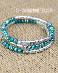 make bead bracelet wire images Crystal tube bead diy memory wire bracelet happy hour projects jpg