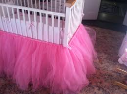 Mini Crib Sheet Tutorial by Pink Tulle Tutu Crib Skirt Ella U0027s Nursery Pinterest Tutu