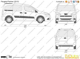 peugeot partner 2015 the blueprints com vector drawing peugeot partner