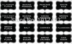 kitchen canister labels large size 10x6 cm kitchen chalkboard label sticker jar labels