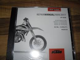 ktm repair manual 2009 2017 on disc never opened still sealed in