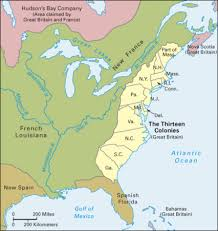 the thirteen colonies map powerschool learning colonial america the thirteen colonies