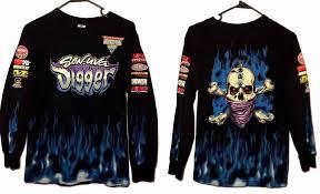 monster jam sun uva digger monster truck shirt mens size small