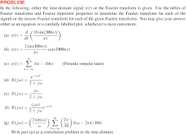 Fourier Transform Table Dsp First 2e U2013 Resources
