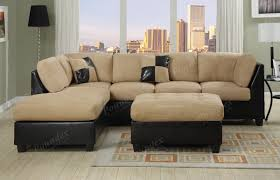interior microfiber sofa chaise microsuede sectional