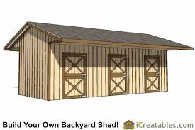 Barn Plans by Run In Shed Plans Building Your Own Horse Barn Icreatables