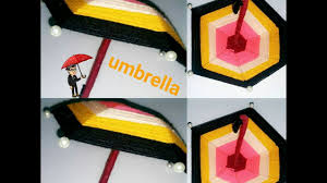 diy craft how to make an umbrella with wool and wire craft