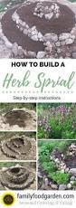 how to build a rock garden herb spiral herb spiral how to