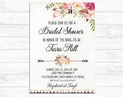 bridal shower invitation templates floral bridal shower