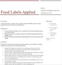 Nutrition Facts Label Worksheet Amanda Gerson Career Portfolio