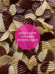 Halloween Diy Ashley U0027s Potato Chocolate Covered Potato Chips Snack Recipe Spoon Fork Bacon