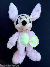 disney minnie mouse easter 2016 bunny pink rabbit plush medium 12