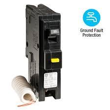 square d homeline 20 amp single pole gfci circuit breaker