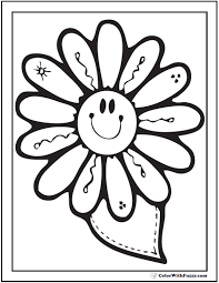 printable coloring pages of pretty flowers spring flowers coloring page 28 customizable printables