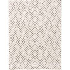 Polypropylene Area Rugs by Ecarpet Gallery Frieze Plush Ivory Polypropylene Shag 7 Ft 9 In