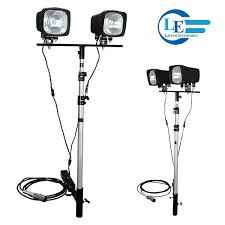 trailer hitch mounted light tower
