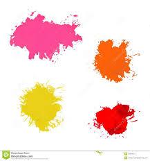 beautiful traced vector watercolor splatter stock vector image