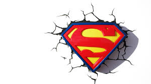 3d deco superhero wall lights superman shield 3dlightfx