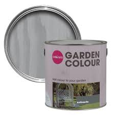 colours garden anthracite matt paint 2 5l departments diy at b u0026q