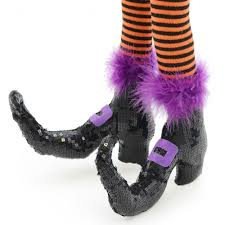 costume witch shoes pair of deluxe witch legs black shoes 27