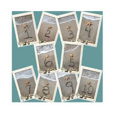 themed table numbers themed table number cards 1 10 table numbers wedding sand