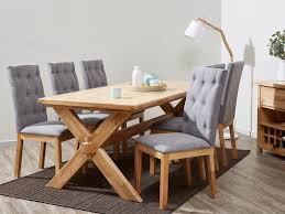 dining sets upholstered fabric chairs hardwood b2c furniture