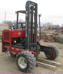 1997 moffett m5000 piggy back forklift item e3077 sold