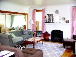 astounding white blue colors quatrefoil pattern living room area