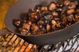 cuisiner chataigne cuisiner au feu de bois dans la cheminée tout pratique