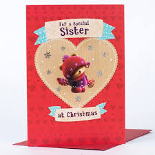 christmas card special sister only 99p