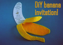 i thought of it second diy banana invitation
