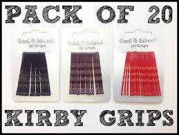 kirby grips pack of 20 kirby grips 45mm black brown and curvy hair clip