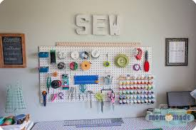 cool pegboard ideas mom made sewing room pegboard organization sew cool pinterest