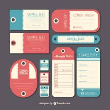 vintage label tags template vector free download