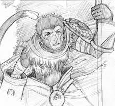 daily sketch 6 wukong the monkey king by chibicca on deviantart
