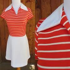 mod striped dress vintage 60s green u0026 white stripes mid century