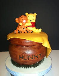 winnie the pooh baby shower cakes winnie the pooh baby shower cake and cupcakes cakecentral